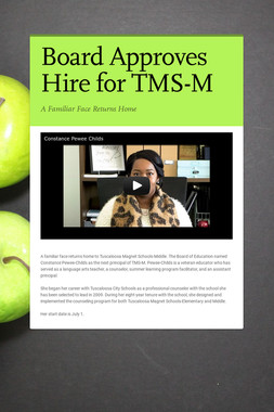Board Approves Hire for TMS-M
