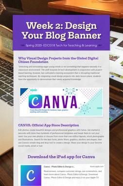 Week 2: Design Your Blog Banner