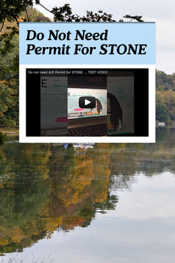 Do Not Need Permit For STONE