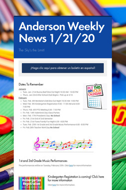 Anderson Weekly News 1/21/20