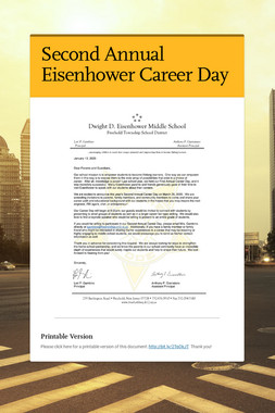 Second Annual Eisenhower Career Day
