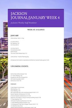 JACKSON JOURNAL/JANUARY WEEK 4