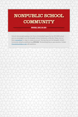 Nonpublic School Community