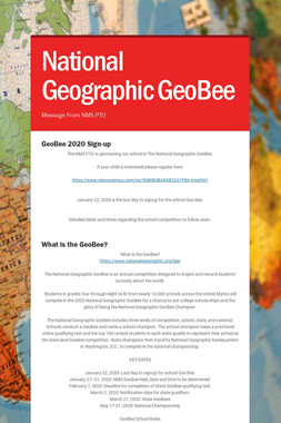 National Geographic GeoBee
