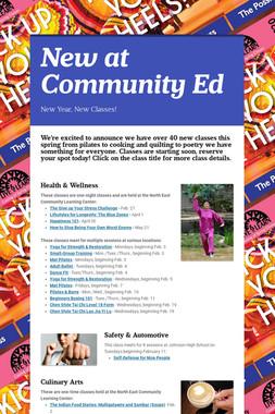 New at Community Ed