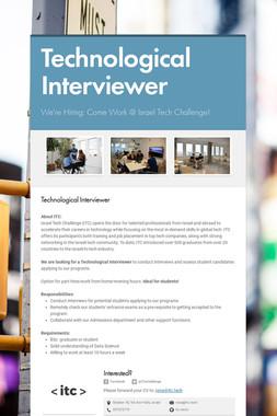 Technological Interviewer