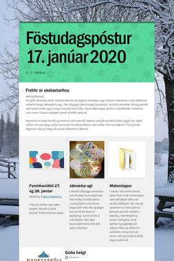 Föstudagspóstur 17. janúar 2020