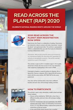 Read Across the Planet (RAP) 2020
