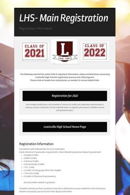 LHS- Main Registration
