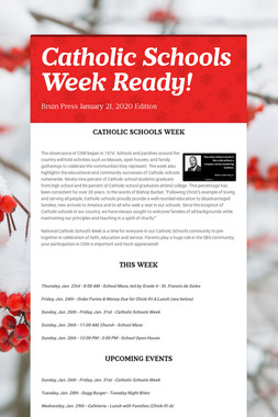 Catholic Schools Week Ready!