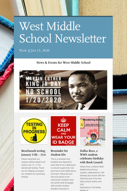 West Middle School Newsletter