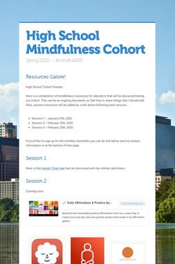 High School Mindfulness Cohort