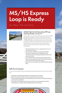 MS/HS Express Loop is Ready