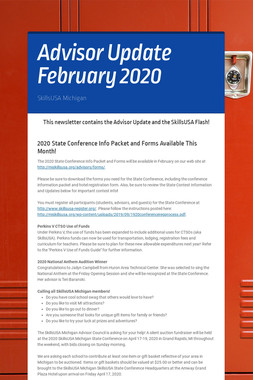 Advisor Update February 2020