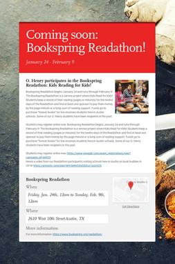 Coming soon: Bookspring Readathon!