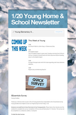 1/20 Young Home & School Newsletter