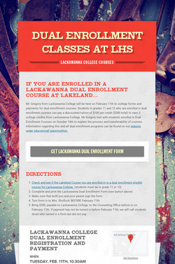 DUAL ENROLLMENT CLASSES AT LHS