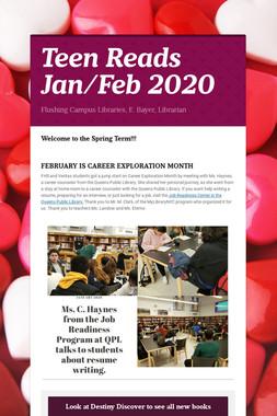 Teen Reads  Jan/Feb 2020