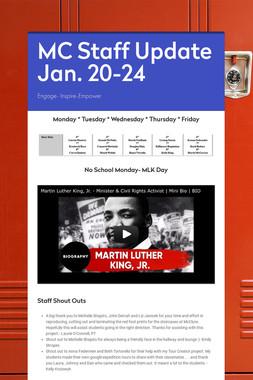 MC Staff Update Jan. 20-24
