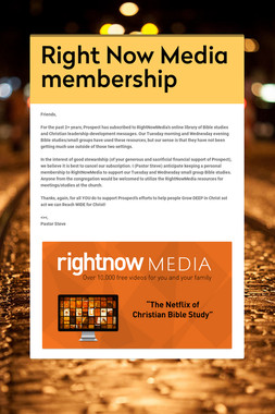 Right Now Media membership