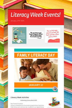 Literacy Week Events!
