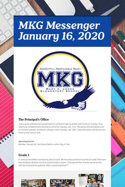 MKG Messenger January 16, 2020
