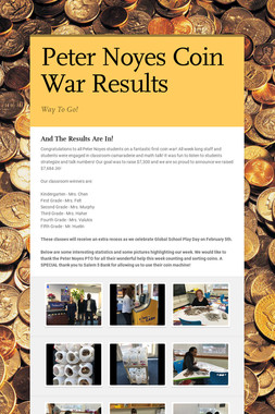 Peter Noyes Coin War Results