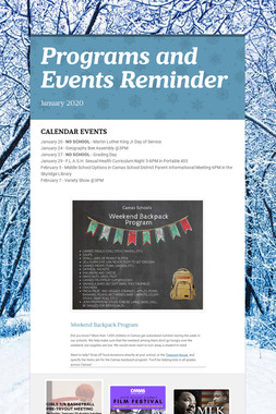 Programs and Events Reminder