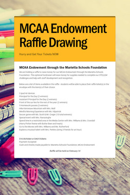MCAA Endowment Raffle Drawing