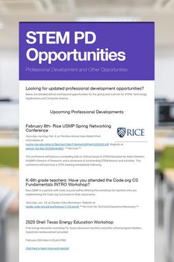 STEM PD Opportunities