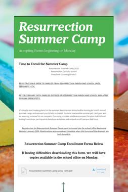 Resurrection Summer Camp
