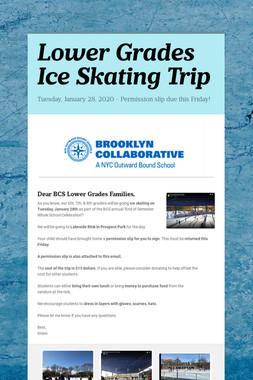 Lower Grades Ice Skating Trip