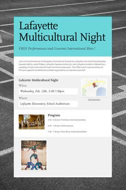 Lafayette Multicultural Night