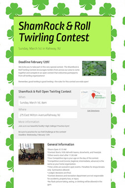 ShamRock & Roll Twirling Contest