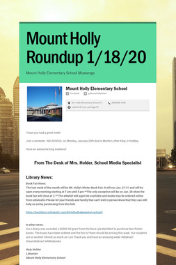 Mount Holly Roundup 1/18/20