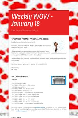 Weekly WOW - January 18