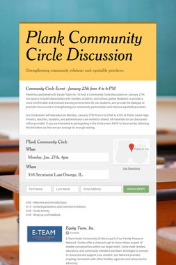 Plank Community Circle Discussion