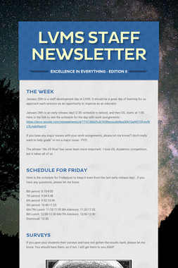 LVMS Staff Newsletter