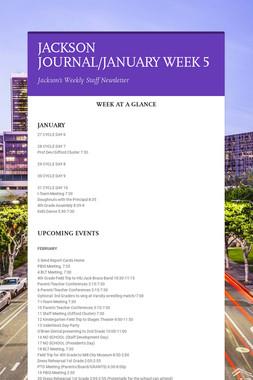 JACKSON JOURNAL/JANUARY WEEK 5