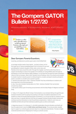 The Gompers GATOR Bulletin 1/27/20