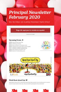 Principal Newsletter February 2020