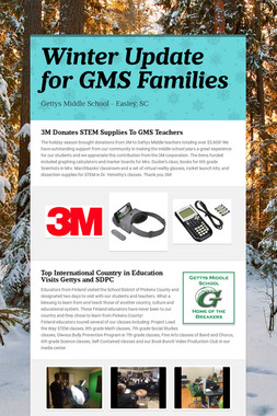 Winter Update for GMS Families