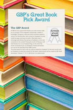 GBP's Great Book Pick Award