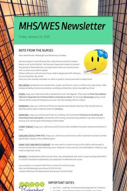 MHS/WES Newsletter