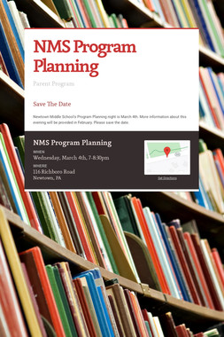 NMS Program Planning