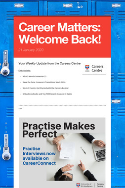 Career Matters: Welcome Back!