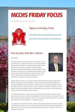 MCCHS FRIDAY FOCUS