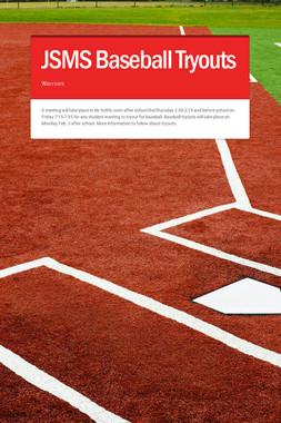JSMS Baseball Tryouts