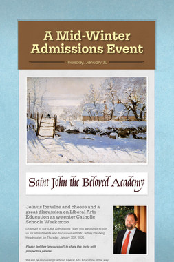 A Mid-Winter Admissions Event