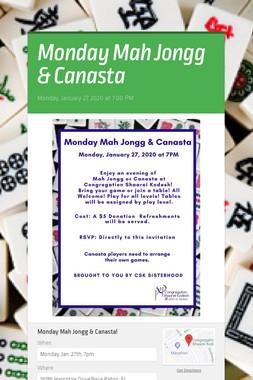Monday Mah Jongg & Canasta